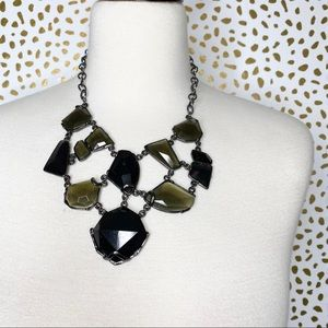 Large stone statement necklace